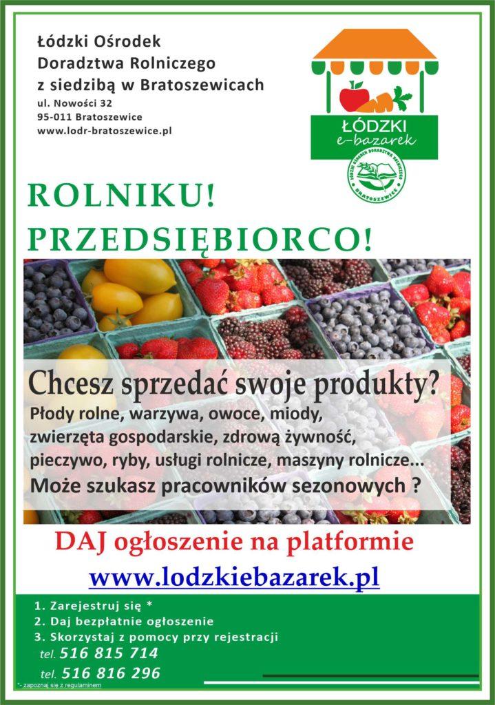 Zapraszamy na platformę Łódzki e-bazarek