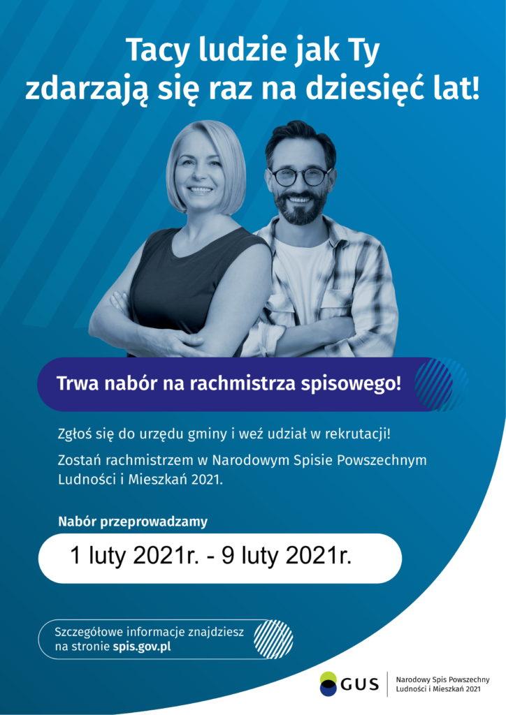 Rusza nabór rachmistrzów spisowych Narodowego Spisu Powszechnego Ludności i Mieszkań 2021