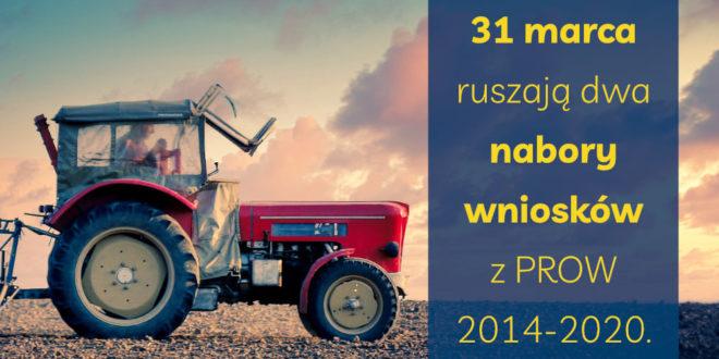 31 marca ruszają dwa nabory wniosków z PROW 2014-2020