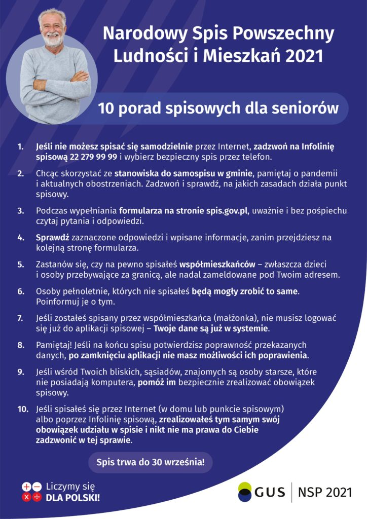 plakat dla seniora